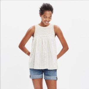 Madewell Embroidered Swing Tank Top